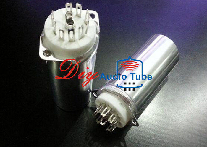 Multi Pins Vacuum Tube Sockets Ceramic Material With Aluminum Shield For 6DJ8 12AX7